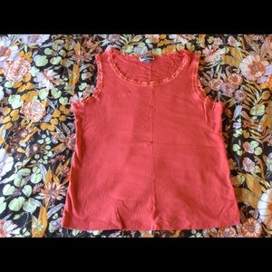 🌙5/$15 Coral Red Lace Trim Tank